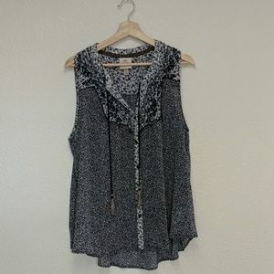 Knox Rose XL sleeveless blouse, new without tags
